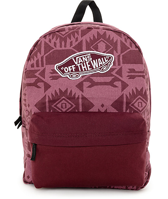 Vans Geo Tonal Burgundy Backpack