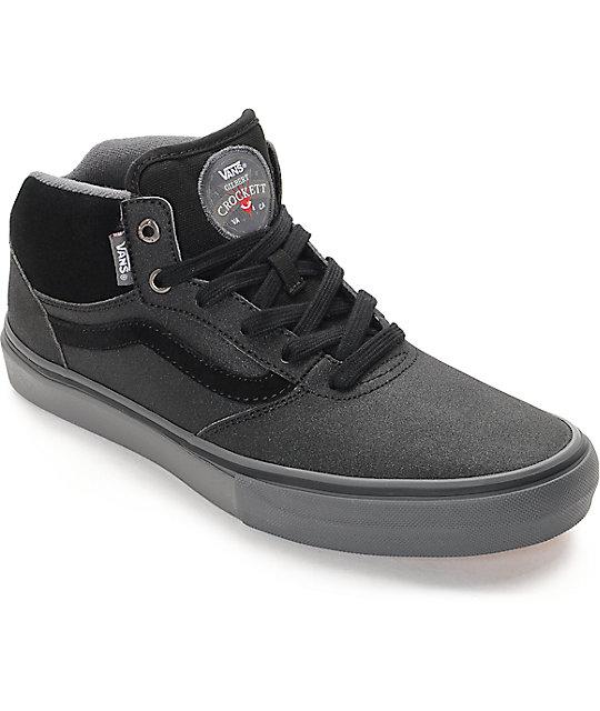 Vans Gilbert Crockett Pro Mid Xtuff Black & Grey Skate Shoes