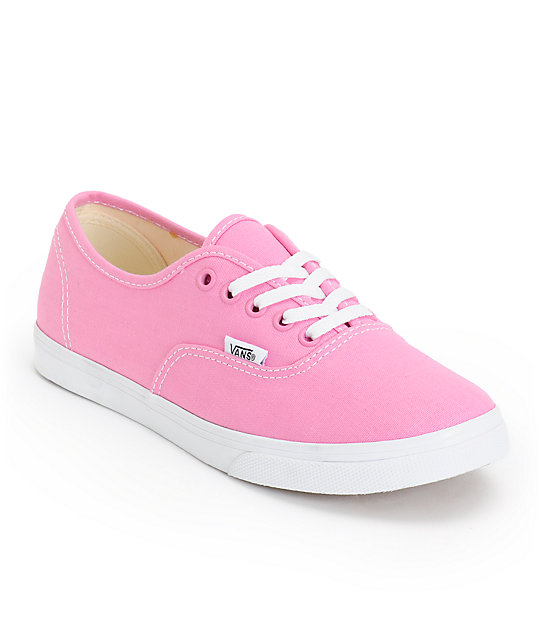Vans Girls Authentic Lo Pro Rosebloom Pink & True White Shoes (Womens)