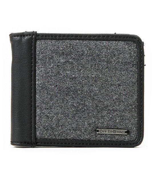 Vans Graham Grey & Black Bifold Wallet