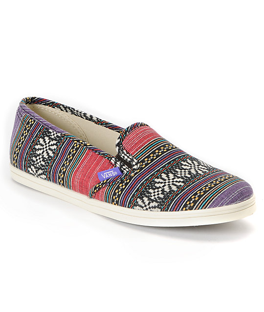 Vans Guate Stripe Slip-On Lo Pro Shoes (Womens)