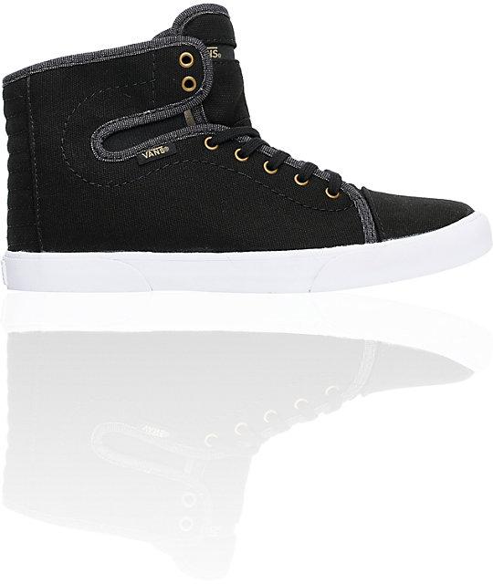 Vans Hadley Black & Khaki Canvas Skate Shoess