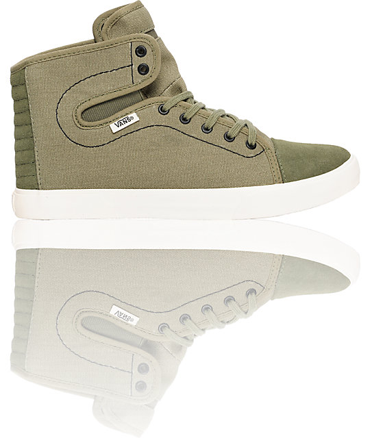 Vans Hadley Green Canvas Shoes (Womens)