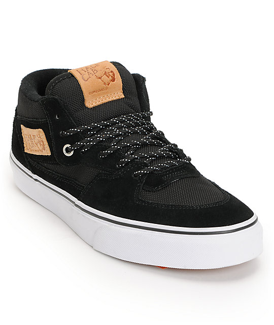 Vans Half Cab Ballistic Black & White Skate Shoes (Mens)