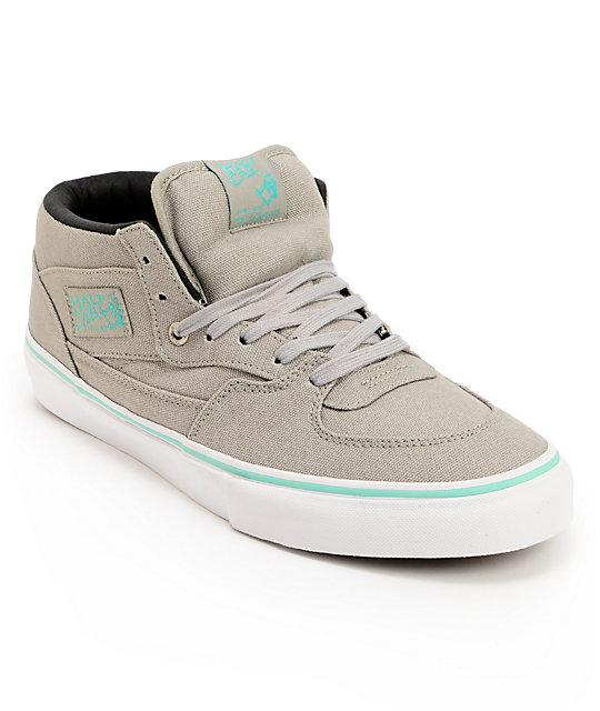 Vans Half Cab Grey & Seafoam Skate Shoes (Mens)
