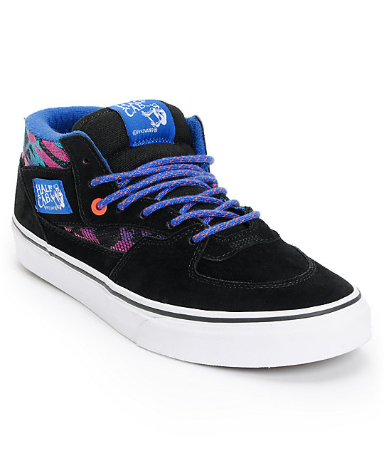 Vans Half Cab Inca Black Suede Skate Shoes Mens At