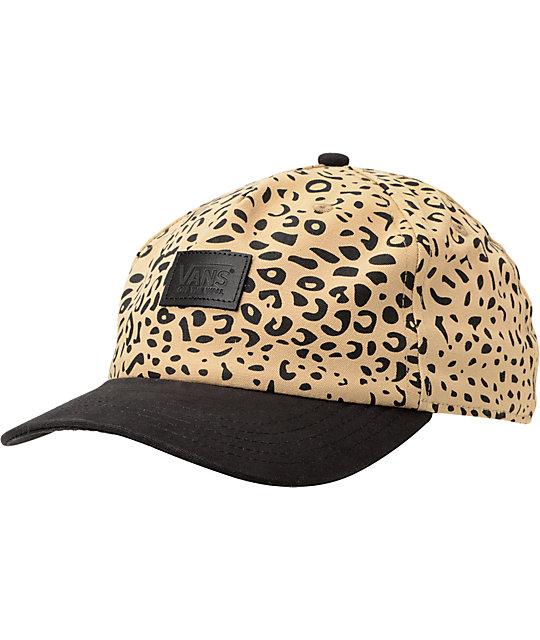 Vans Hawthorne Khaki Leopard Print Strapback Hat