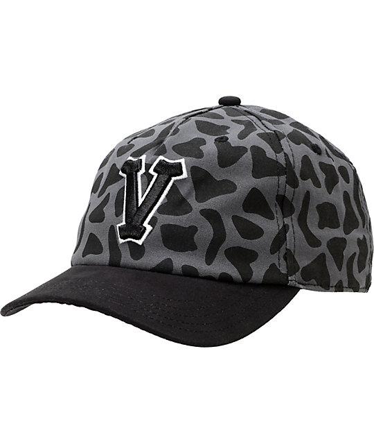 Vans Hawthorne Varsity Black Leopard Print Strapback Hat