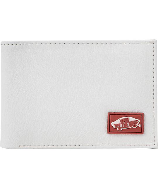 Vans Heel Tab White Bifold Wallet