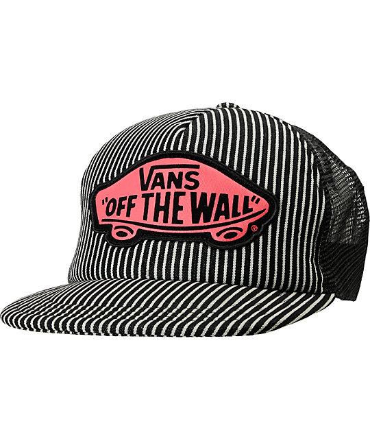 Vans Hickory Stripe Beach Girl Trucker Hat