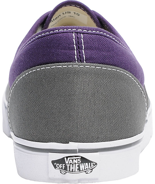 Vans LPE Dark Grey & Purple 2Tone Skate Shoes