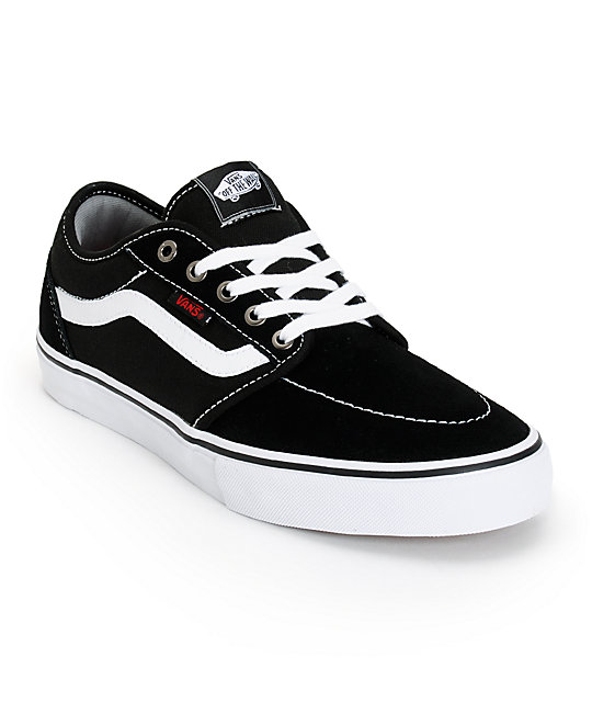 Vans Lindero 2 Black & White Skate Shoes (Mens)