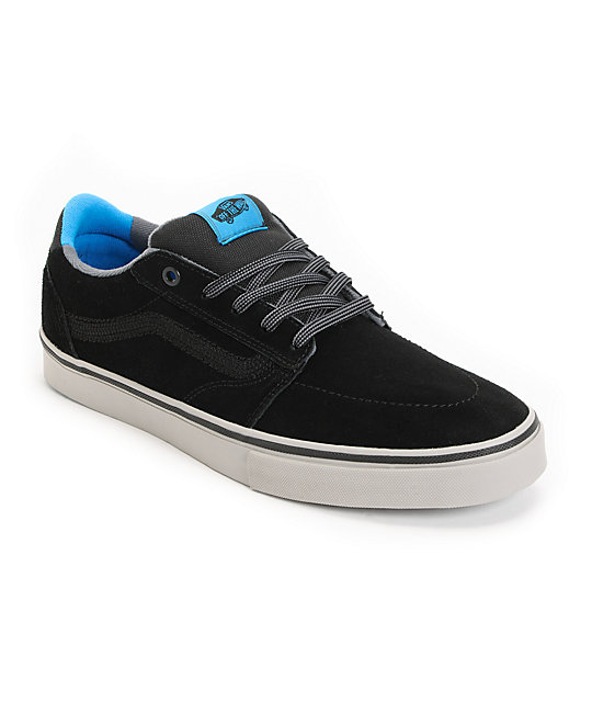 Vans Lindero Black, Pumice & Blue Skate Shoes (Mens)