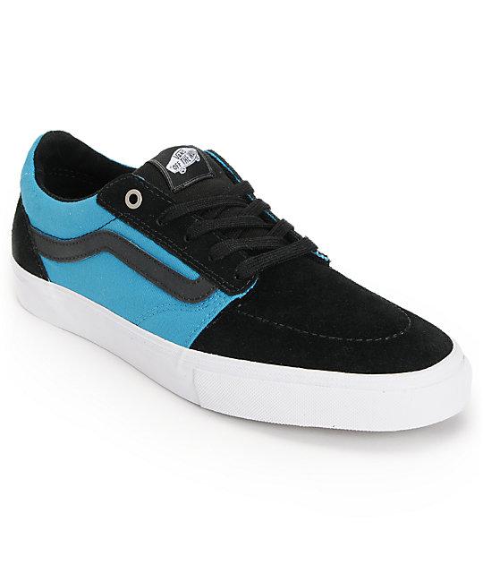 Vans Lindero Black & Cyan Skate Shoes (Mens)