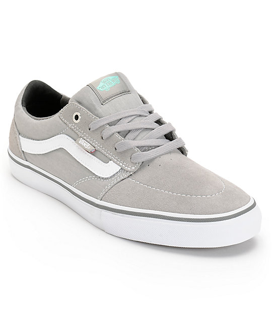 Vans Lindero Grey & Seafoam Green Skate Shoes (Mens)