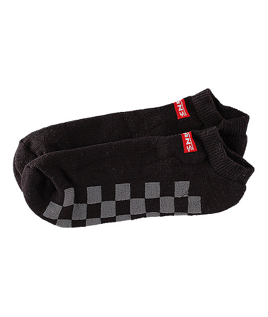 Vans Low Black & Checkerboard Ankle Socks