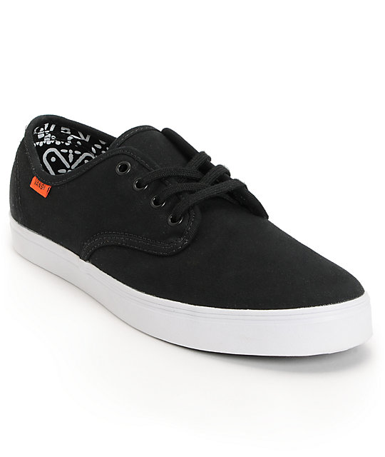 Vans Madero Black Twill Skate Shoes (Mens)