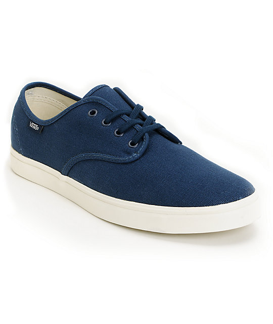 Vans Madero Blue & White Skate Shoes (Mens)