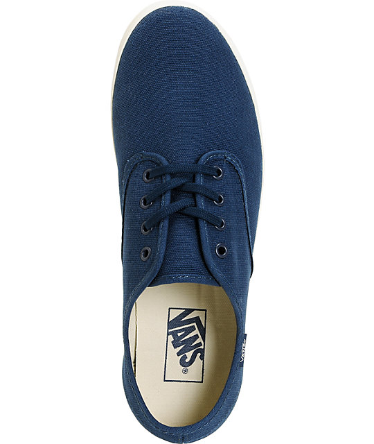 Vans Madero Blue & White Skate Shoes