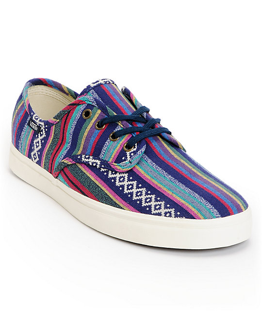Vans Madero Dress Blue & Guate Canvas Skate Shoes (Mens)