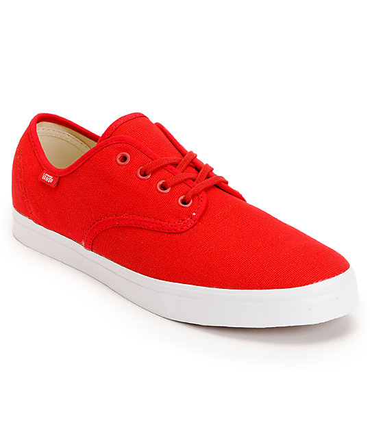 Vans Madero Red & White Skate Shoes (Mens)
