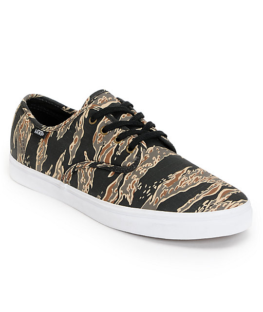Vans Madero Tiger Camo Rip-Stop Skate Shoes (Mens)
