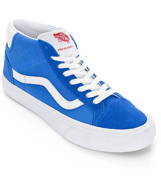 Vans Mid Skool Pro 50th Blue & White Shoes at Zumiez : PDP