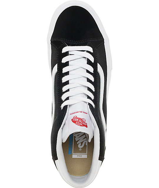 Vans Mid Skool Pro Black & White Skate Shoes