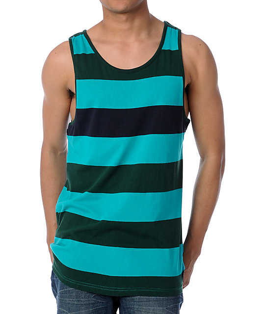 Vans Miscellany Green Striped Tank Top