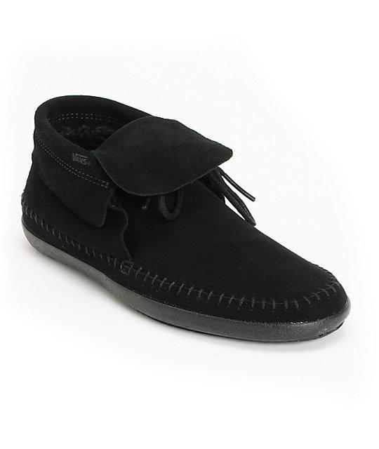 Vans Mohikan Mid Black & Fleece Slip On Shoes (Womens)