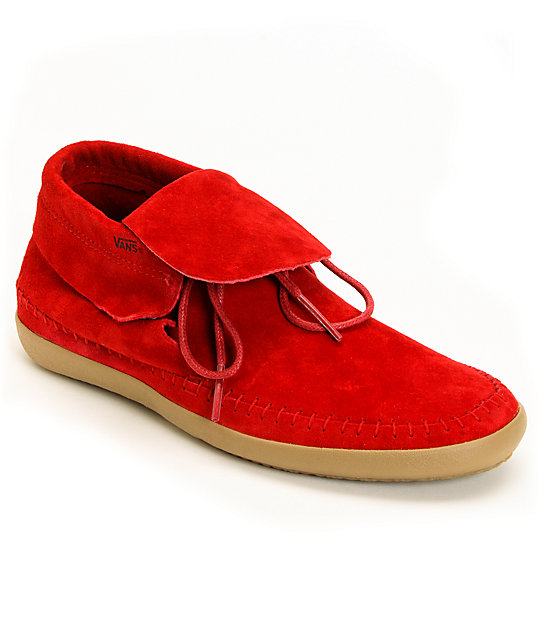 Vans Mohikan Mid Chili Pepper Red Shoes (Womens)