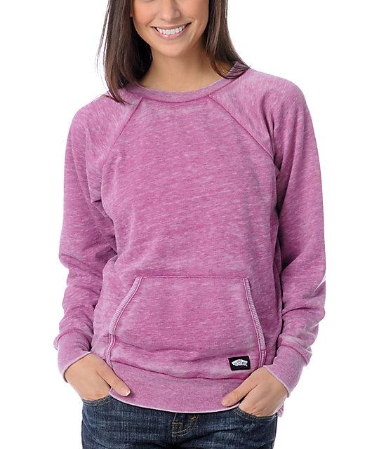 Vans Motion Pink Crew Neck Sweatshirt