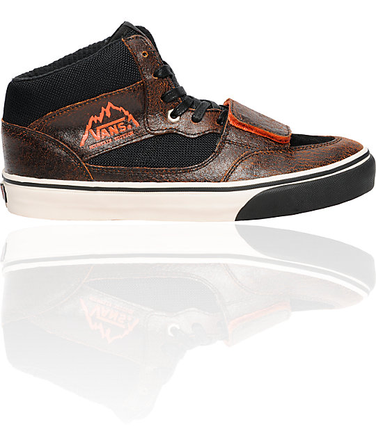 Vans Mt. Edition Snow Black & Orange Skate Shoes
