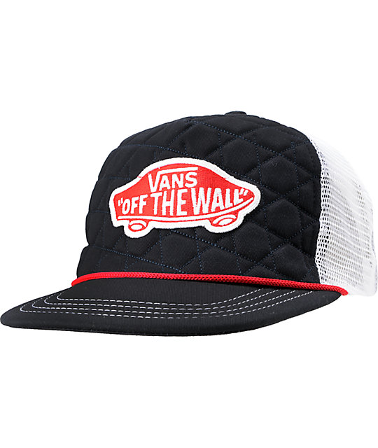 Vans NVY Patchwork Navy Quilted Snapback Trucker Hat