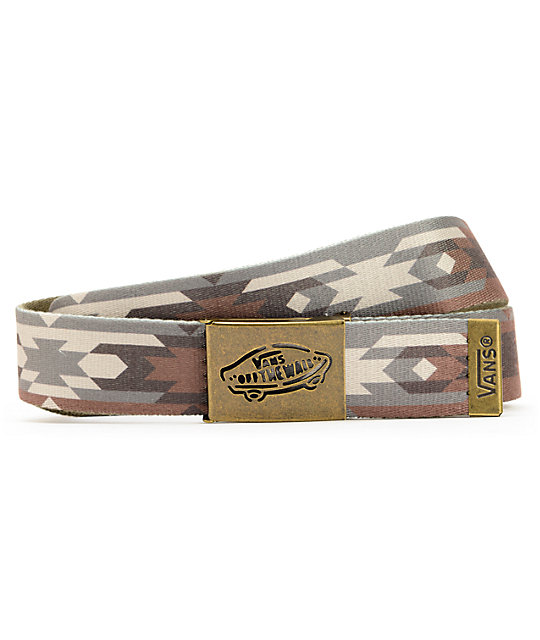 Vans Native Camo & Green Reverse Web Belt