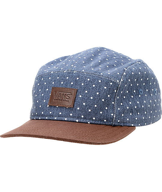 Vans Navy Dot Camper 5 Panel Hat