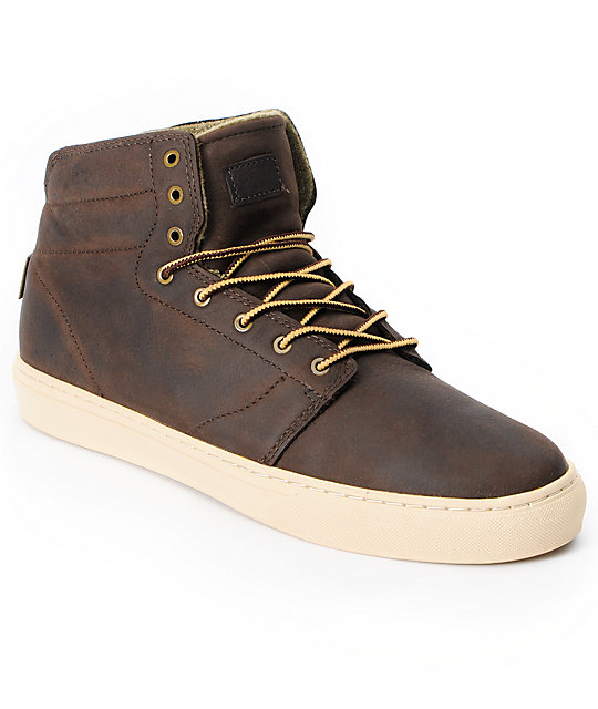 Vans OTW Alcon Brown Leather Mens Work Boots