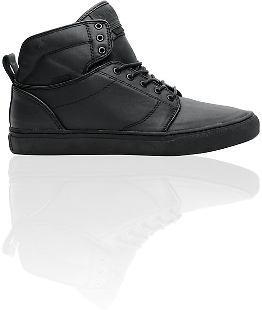 Vans OTW Alomar Black Wax Canvas Skate Shoes (Mens)