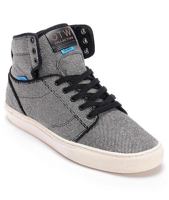 Vans OTW Alomar Black Wool Twill Skate Shoes (Mens)