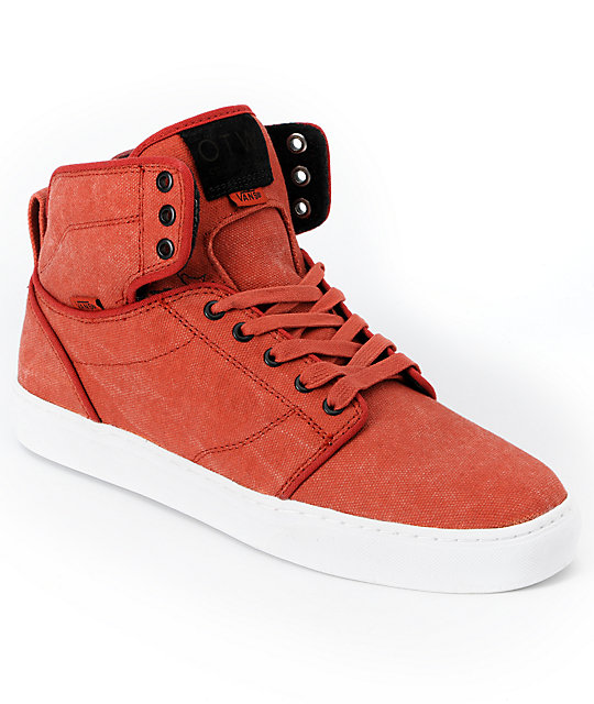 Vans OTW Alomar Red Stone Washed Canvas Skate Shoes (Mens)