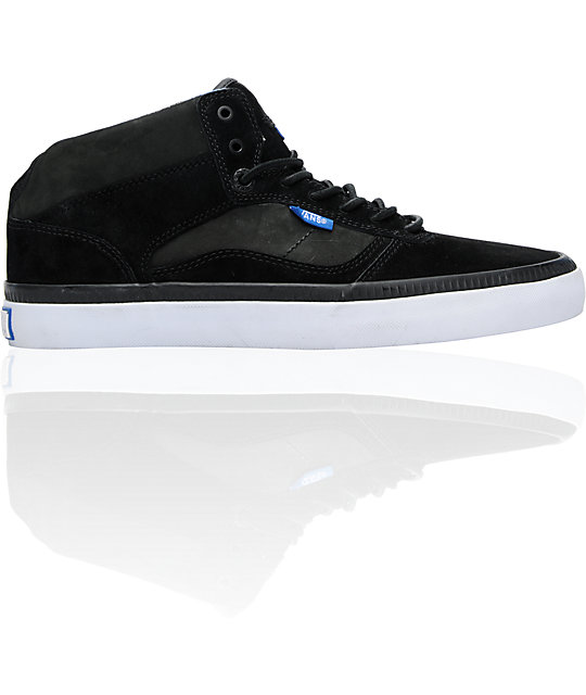 Vans OTW Bedford Black & Blue Suede Skate Shoes