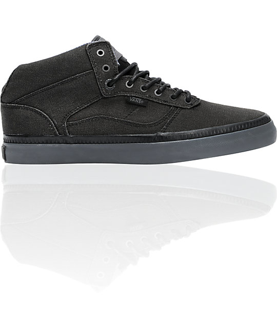 Vans OTW Bedford Black & Pewter Washed Canvas Skate Shoes