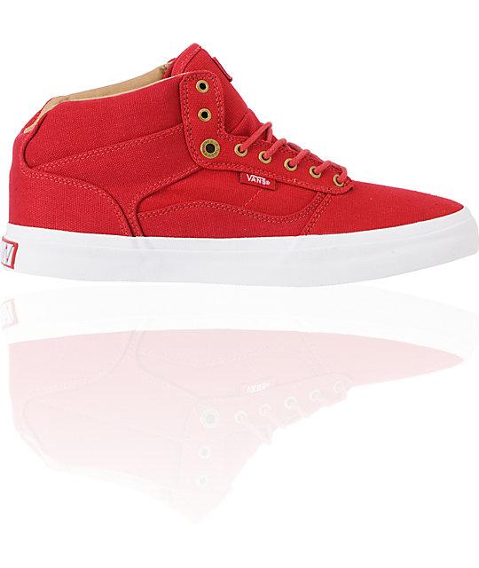 Vans OTW Bedford Red & White Canvas Skate Shoes (Mens)