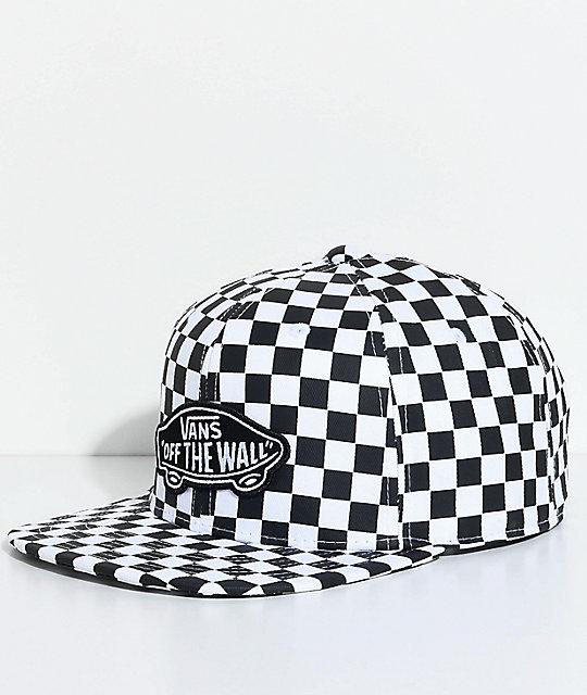 Vans OTW Black & White Checkered Snapback Hat