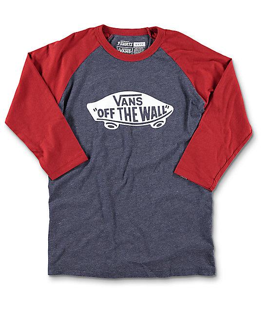 Vans OTW Boys Navy & Red Baseball T-Shirt