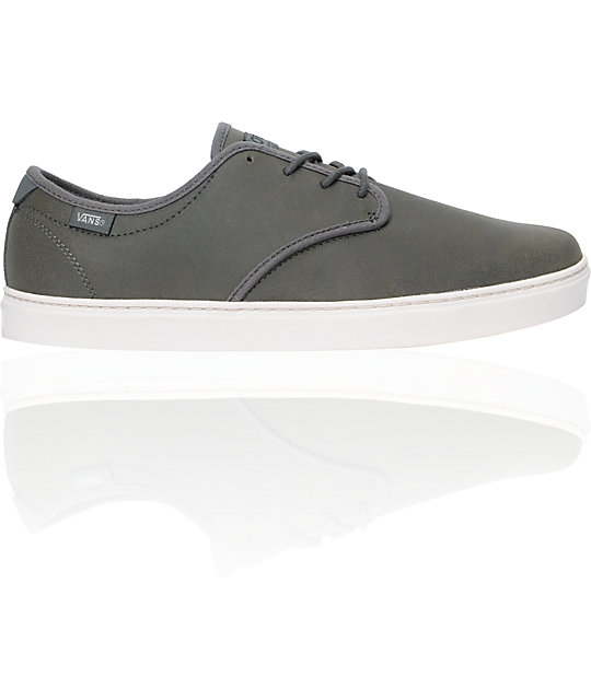Vans OTW Ludlow Grey Oiled Suede Skate Shoes (Mens)