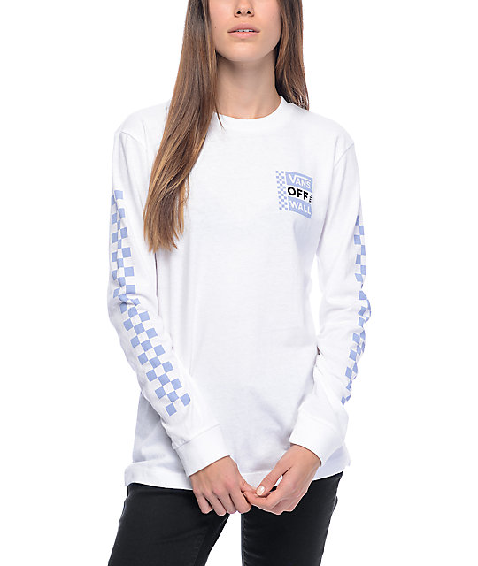 Vans otw white long sleeve t shirt zumiez for What is a long sleeve t shirt