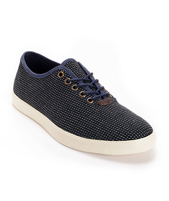 Vans OTW Woessner Blue Stripe Wool Skate Shoes (Mens)