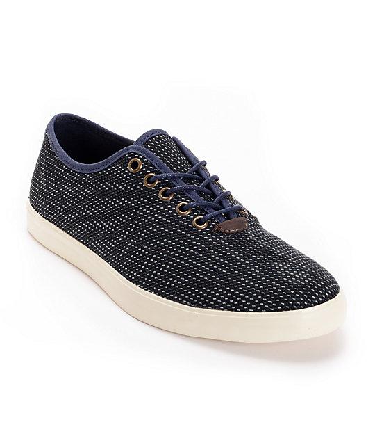 Vans OTW Woessner Blue Stripe Wool Skate Shoes (Mens)
