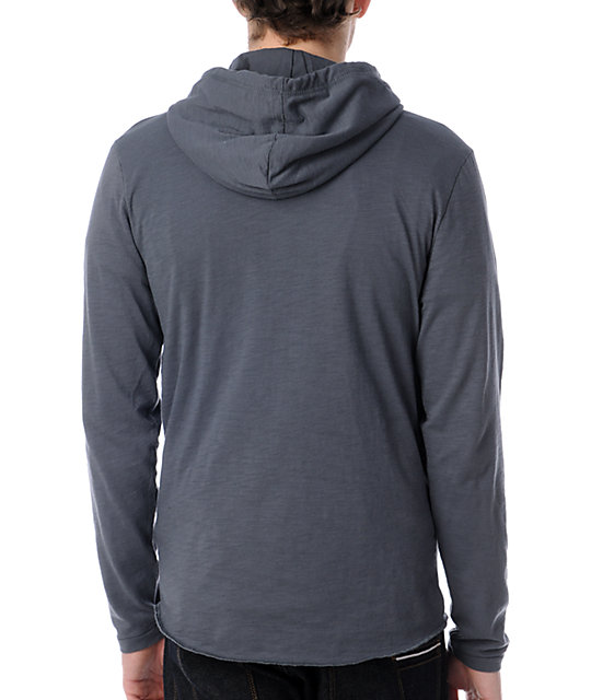Vans Occulta Grey Hooded Henley Shirt